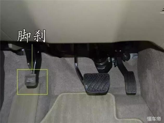 脚刹又称脚控式驻车制动,相比于传统手刹,对于一些力气比较小的女生来说,这种操控更加省力,不会因为拉手刹的力度太小而导致制动力不足,发生溜车等现象。脚刹和手刹的运用原理是一样的,只不过是换了种方式,用脚来解放双手,它的位置一般在驾驶员左脚踏板旁边,形状有点像右脚边缩小版的制动踏板,脚刹同样不要用力太大去踩死,这样才可以延长寿命。 电子手刹 优点:等红绿灯、堵车、上坡的时候不需要长时间踩住刹车也可以保证车辆不溜车或者滑行,而且节省空间 缺点:成本较高,维修更换都不方便,蓄电池没电了的时候会比较麻烦