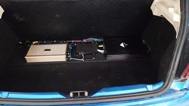 标致207汽车音响升级-德国喜力士DSP2处理器升级