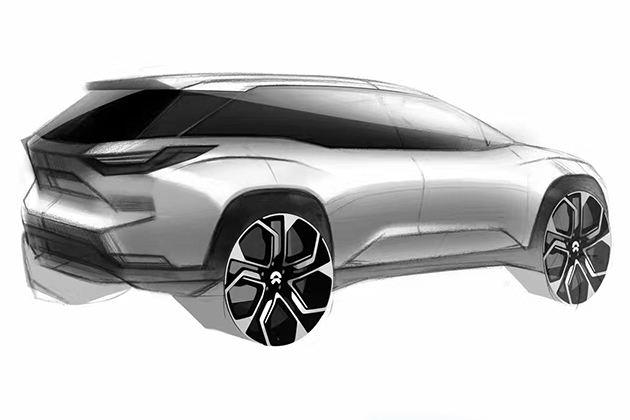 蔚来ES8设计草图曝出 上海车展将发布
