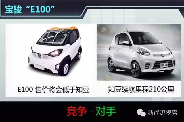 宝骏首款纯电动汽车E100将与知豆D2 红尘作伴高清图片