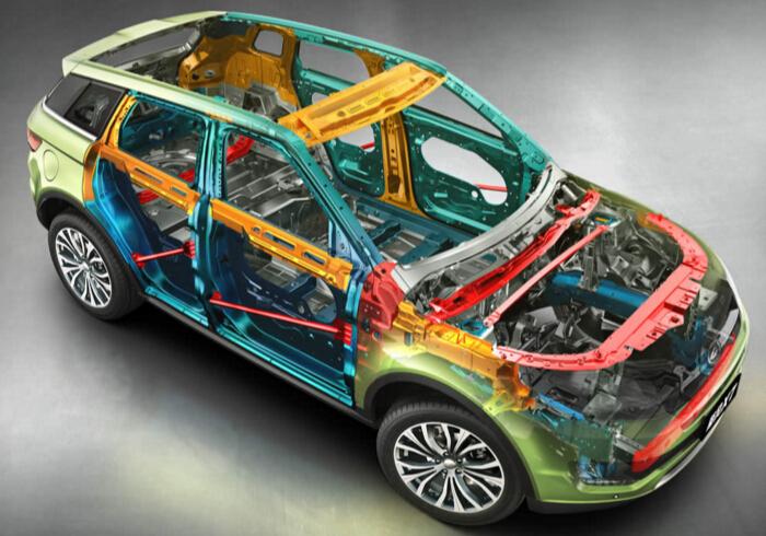 一辆汽车的车身结构就像是一个人的骨骼一样,可以支起身体也可以保护