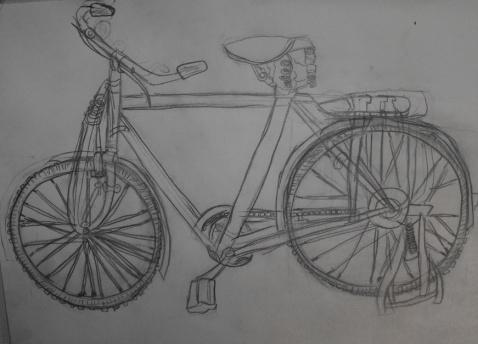 素描 自行车 478_344