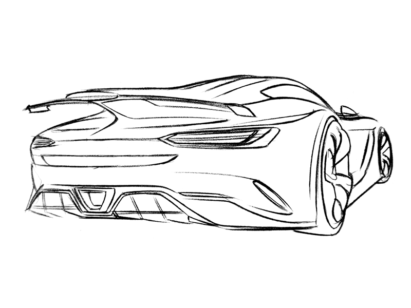 放弃鸥翼的新选择 奔驰amg超级跑车效果图图片