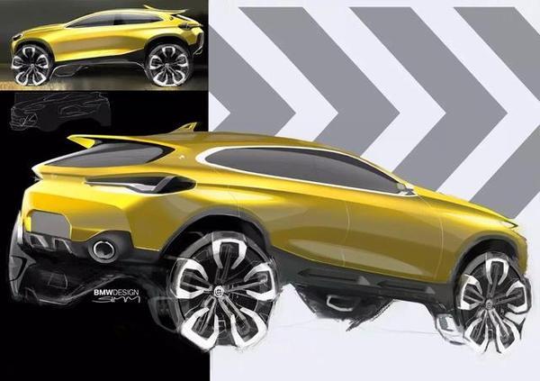 帅到无法呼吸,宝马X2概念车效果图流出