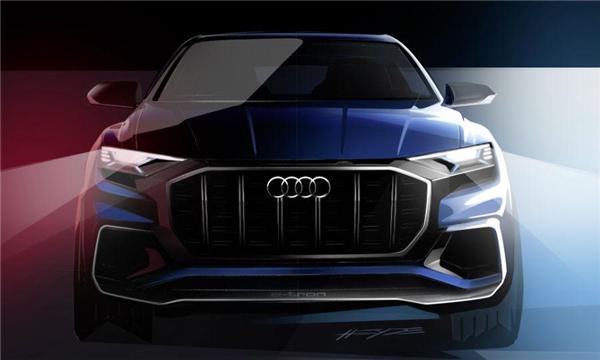 奥迪将在下个月的底特律车展上展出即将投产的Q8 SUV概念车.Q8高清图片