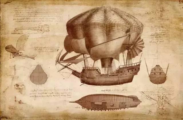 达芬奇的设计图 大多数人都表现出了对人工智能的警惕.