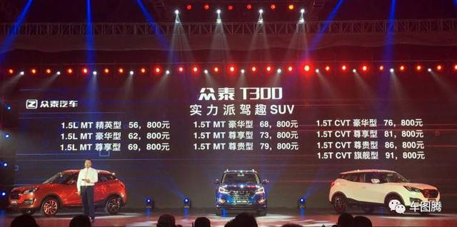 众泰T300售5.68-9.18万元,这款小型SUV有哪些卖点?