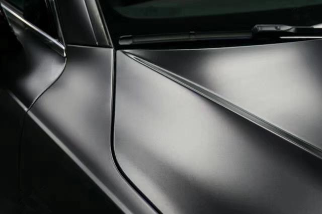 奥迪a7电光钨黑车身改色贴膜效果图