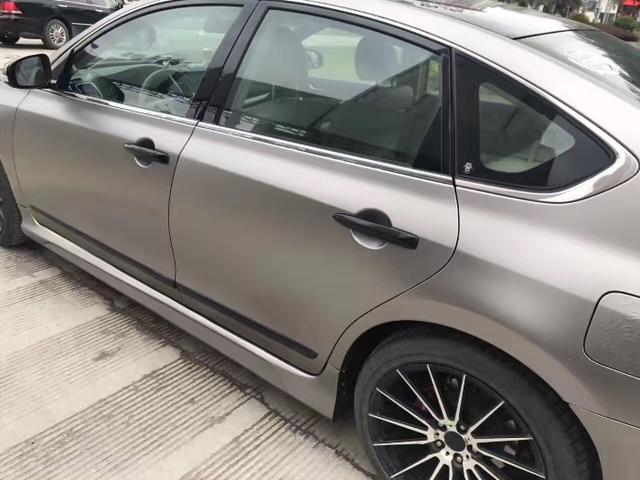 日产天籁电光钛灰车身改色案例