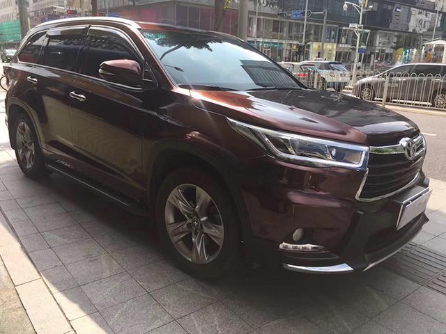 广汽丰田汉兰达亮面金属黑玫瑰车身改色