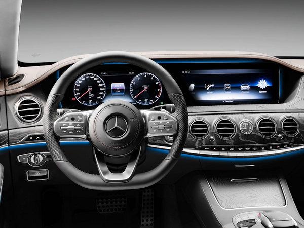 奔驰方向盘自拍_奔驰-迈巴赫 s 450 方向盘