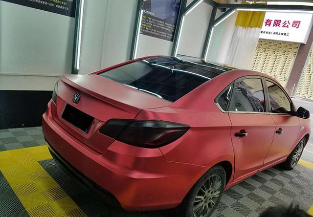 长安逸动汽车改色亚光电镀红贴膜效果图