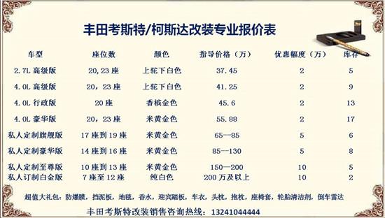 丰田考斯特实力与颜值兼具高性价比商务车报价