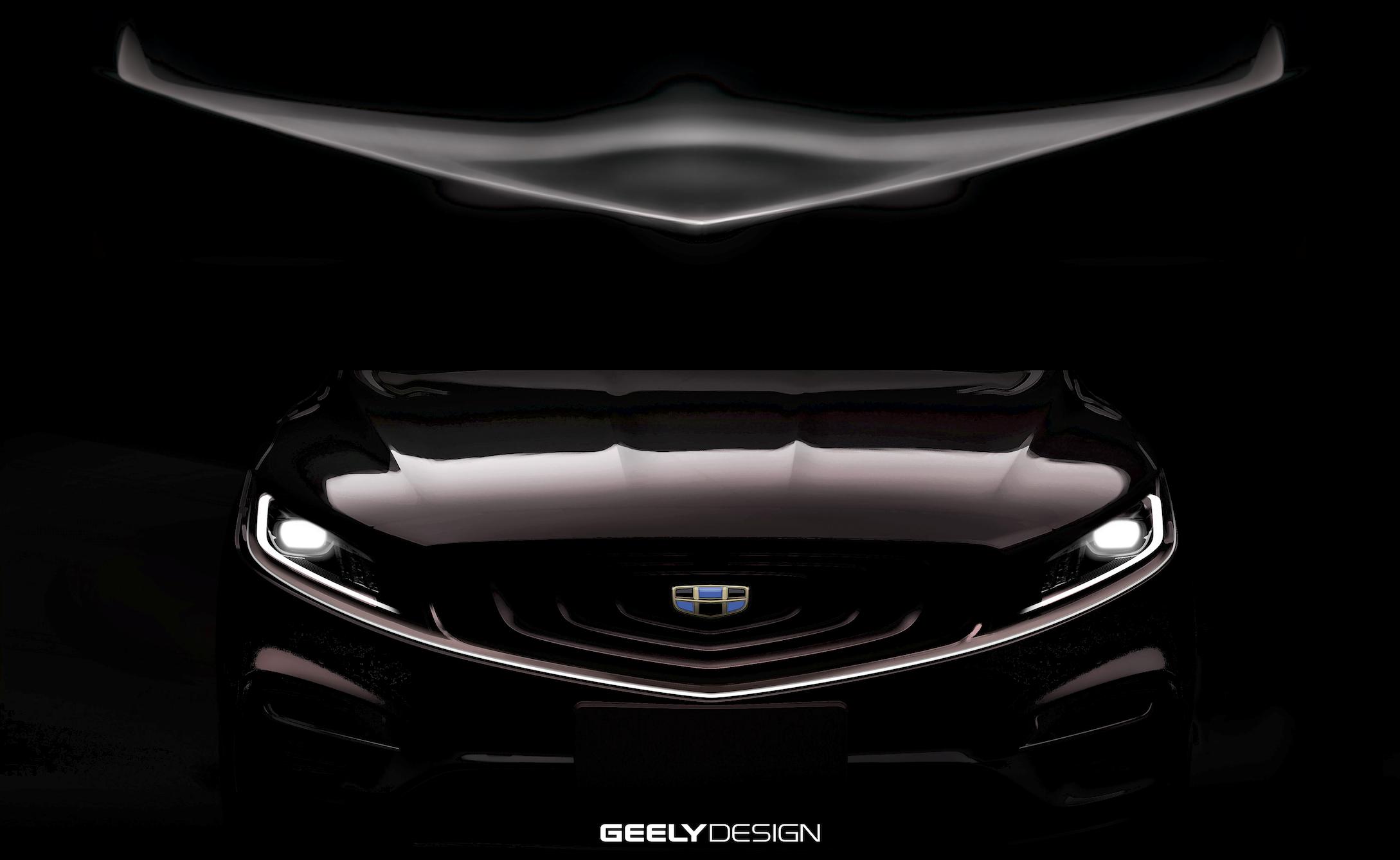 以飞行器为灵感,吉利全新混动旗舰K车型设计图曝光