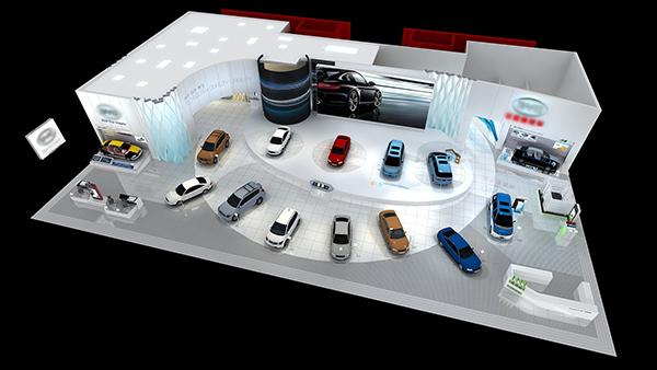 比亚迪,吉利,华泰,众泰等国内新能源车品牌无一缺席都设有展台,宝马图片