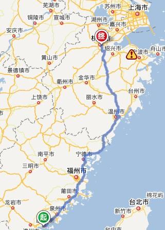 【杭州到厦门多少公里?一路上还有哪些可以玩的地方