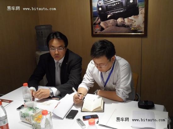 沈阳车展专访三菱汽车副总经理山崎羲则
