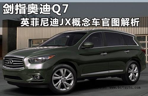 剑指奥迪Q7 英菲尼迪JX概念车官图全解析