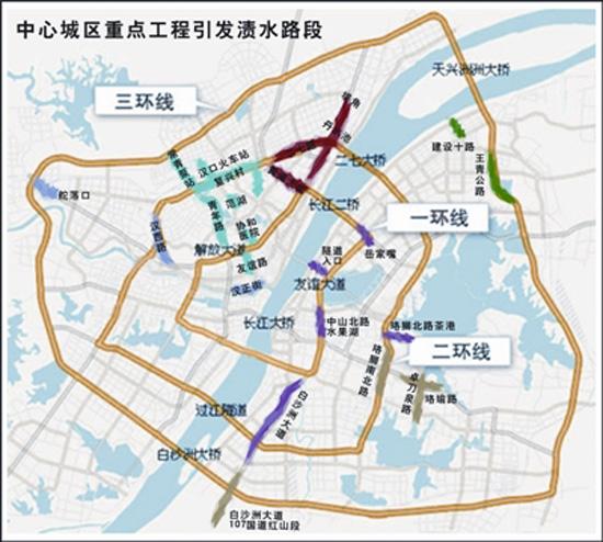 """武汉全城71处渍水点""""淹痛""""三镇图片"""