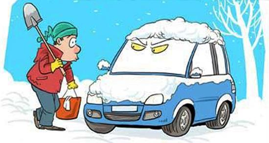 下雪动物冬眠图画