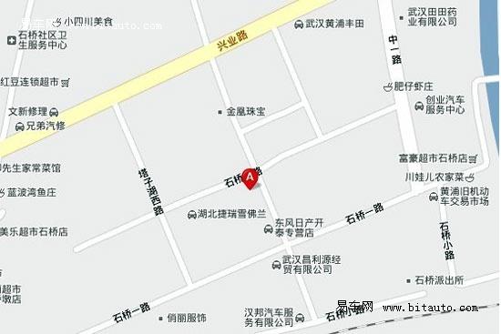 武汉黄埔丰田地图