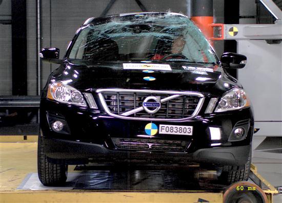 NCAP volvo XC60安全碰撞测试报告高清图片