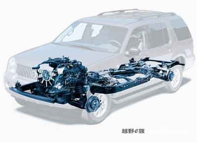 半承载式车身结构图