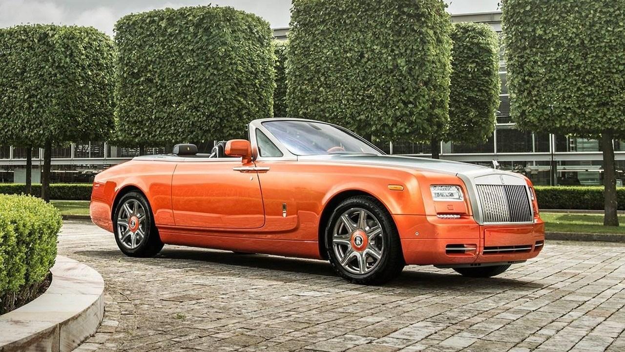劳斯莱斯幻影敞篷特别版 独有橙色车漆