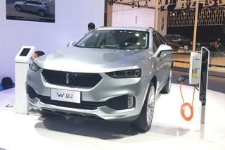 长城WEY混合动力车W01 ERO亮相广州车展