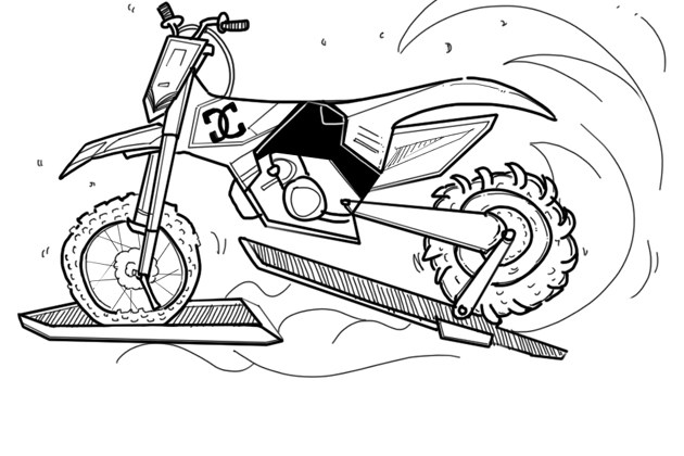 摩托车能在水上开? 有些特技其实并不假