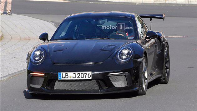 保时捷911 GT3 RS谍照曝光 或将采用中置引擎布局