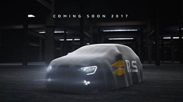 雷诺新款梅甘娜RS官方预告图放出 9月法兰克福车展见