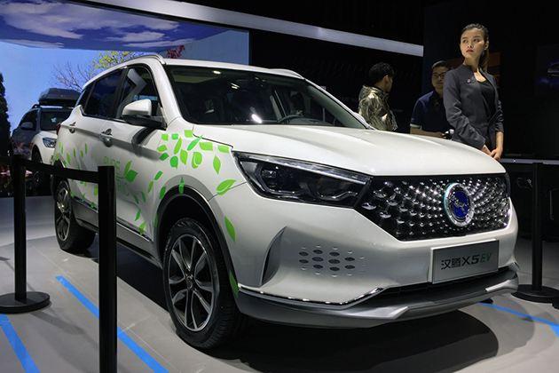 汉腾X5 EV上海车展发布 搭载永磁同步电机
