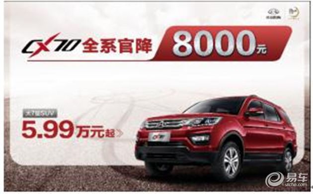 长安CX70  仅5.99万起售