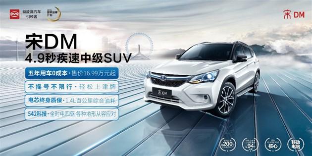 【中国最强车】比亚迪新能源宋DM 16.99万元起售