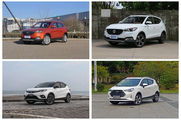 四款自主小型SUV推荐 10万元实惠之选