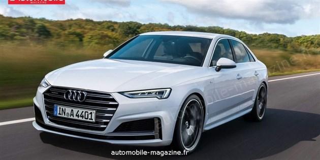 奥迪新款A4假想图曝光 配备半自动驾驶