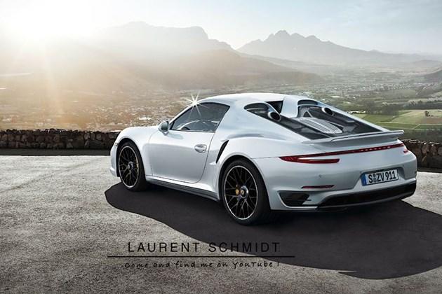 保时捷全新911 Turbo假想图 尾部造型借鉴918设计
