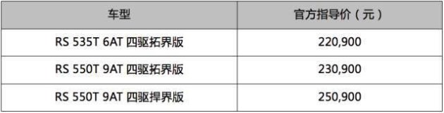 雪佛兰探界者RS强悍登场 售价22.09万元~25.09万元