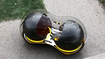 雷诺磁悬浮未来汽车