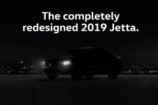大众全新Jetta预告图发布 2018北美车展正式发布