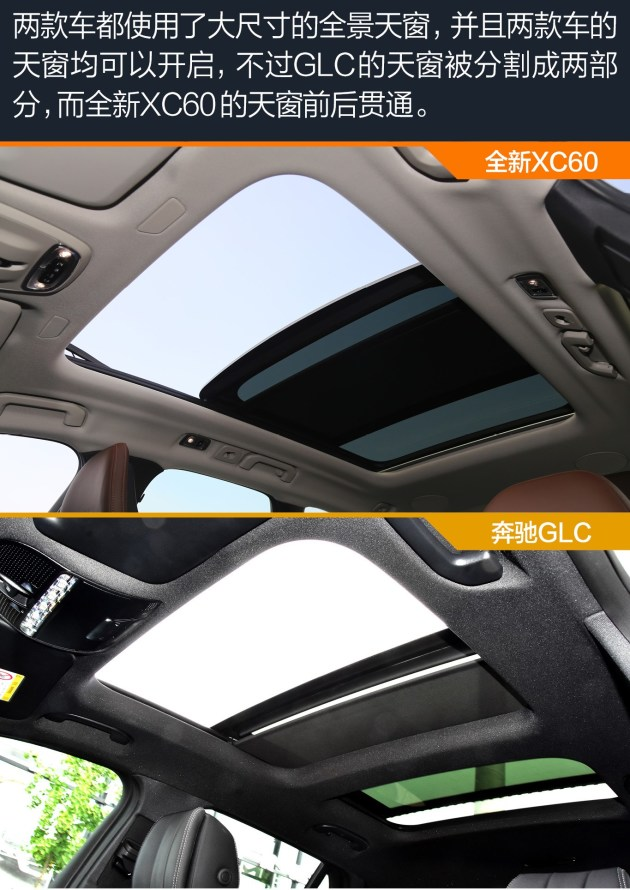 内饰总结:两款车的内饰部分和外观一样,并不属于一种风格,我们可以看到,两款车的内饰风格和其外观的设计风格还是配套的,XC60更淡雅精致,GLC则更豪华、大气。