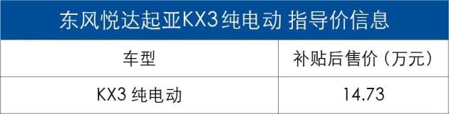 【学会宽容】【图文】东风悦达起亚KX3纯电动版正式上市 补贴