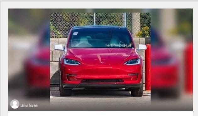 特斯拉Model Y疑似图片曝光 传价格将是26万元起