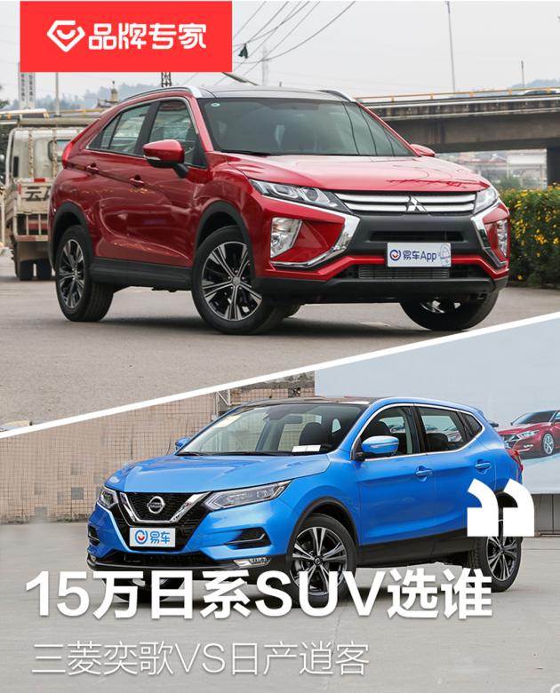 15万级日系SUV选谁 三菱奕歌VS日