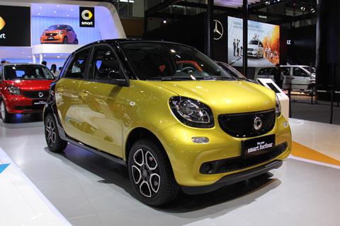 图解奔驰Smart forfour 0.9T的四门微型车