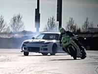 漂移对决 KAWASAKI ZX10 vs Mazda RX7