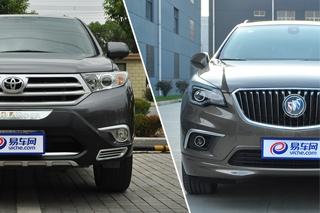 别克昂科威对比丰田汉兰达 中型SUV你要谁
