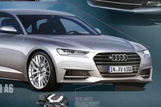 全新一代奥迪A6效果图 设计风格更年轻