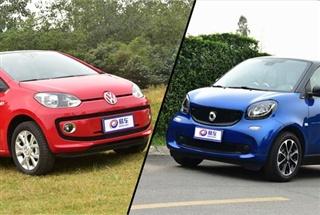 妹子选情趣小车 全新smart对比大众up!